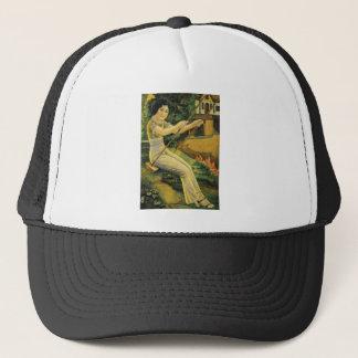Vintage Asian Beautiful Asia Art Woman Women Trucker Hat