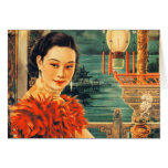 Vintage Asian Beautiful Asian Woman Women Card