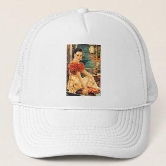 Vintage Asian Beautiful Asian Woman Women Trucker Hat