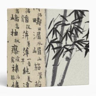 Vintage Asian Calligraphy Bamboo Binder