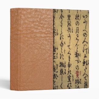 Vintage Asian Calligraphy on Antique Paper Binder