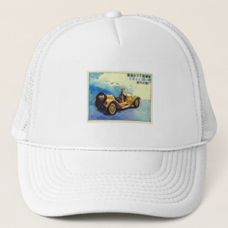 Vintage Asian Chinese Japanese Matchbox Label Trucker Hat