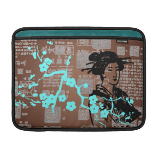 Vintage Asian Collage Sleeves For MacBook Air