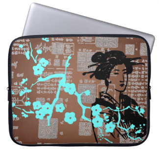 Vintage Asian Collage Laptop Computer Sleeve