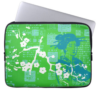 Vintage Asian Collage Computer Sleeves