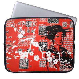 Vintage Asian Collage Laptop Sleeve