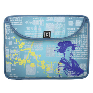 Vintage Asian Collage Sleeves For MacBooks