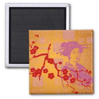 Vintage Asian Collage Magnet