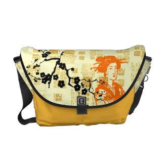 Vintage Asian Collage Messenger Bag