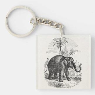 Vintage Asian Elephant Personalized Elephants Keychain