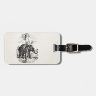 Vintage Asian Elephant Personalized Elephants Luggage Tag