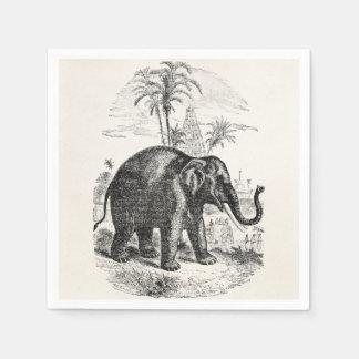 Vintage Asian Elephant Personalized Elephants Napkin