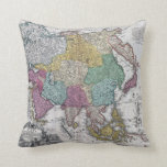 Vintage Asian Map Pillow