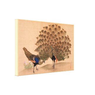 Vintage Asian Peacock Canvas Print