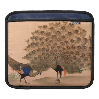 Vintage Asian Peacock Sleeves For iPads