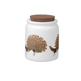 Vintage Asian Peacocks Candy Jars