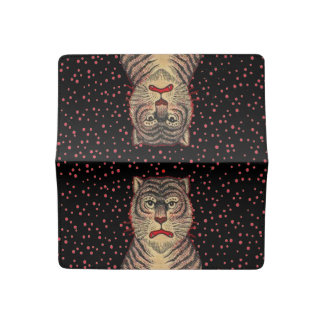 Vintage Asian Striped Fierce Tiger Checkbook Cover