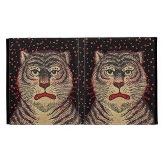 Vintage Asian Striped Fierce Tiger iPad Folio Cases