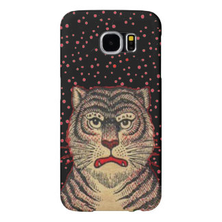 Vintage Asian Striped Fierce Tiger Samsung Galaxy S6 Case