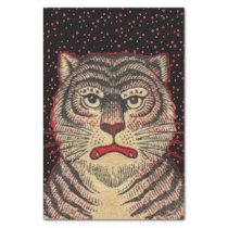 Vintage Asian Striped Fierce Tiger Tissue Paper