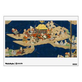 VINTAGE ASIAN TAPESTRY ART WALL STICKER