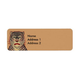 Vintage Asian Tiger Return Address Labels