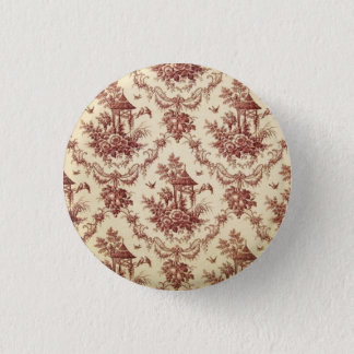 Vintage Asian Toile Pinback Button