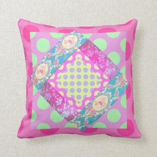 Vintage Asian Victorian Japanese brocade pillow