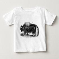 Vintage Asian Yak Retro Yaks Animal Illustration Baby T-Shirt