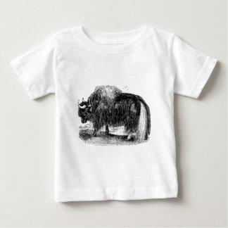 Vintage Asian Yak Retro Yaks Animal Illustration Tee Shirt