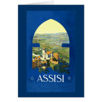 Vintage Assisi Travel Poster Cards, Postcards