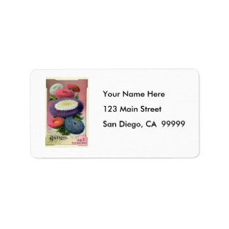 Vintage Assorted Asters Seeds Address Label