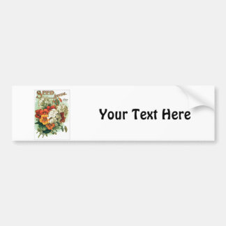 Vintage Assorted Flowers Seed Packet Car Bumper Sticker