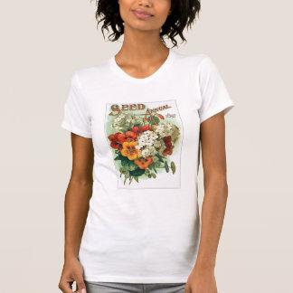 Vintage Assorted Flowers Seed Packet Tshirt