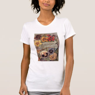 Vintage Assorted Pansies Seed Packet T-Shirt