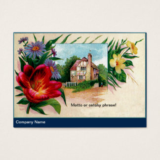Vintage Asters and Tudor House Business Card