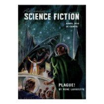 Vintage Astonishing Science Fiction Pulp Stories Poster