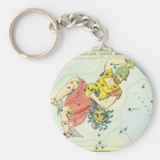 Vintage Astonomy, Perseus and Caput Medusa Basic Round Button Keychain