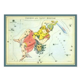 Vintage Astonomy, Perseus and Caput Medusa Card