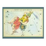 Vintage Astonomy, Perseus y medusa de la cabeza Postal