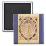 Vintage Astrology, Antique Celestial Zodiac Chart Refrigerator Magnets