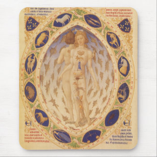 Vintage Astrology, Antique Celestial Zodiac Chart Mouse Pad