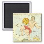 Vintage Astrology Aquarius Constellation Zodiac Fridge Magnet