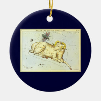 Vintage Astrology Aries Ram Constellation Zodiac Christmas Ornaments
