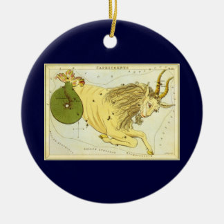 Vintage Astrology Capricorn Constellation Zodiac Ornament