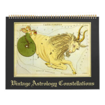 Vintage Astrology Constellations Star Charts Calendar