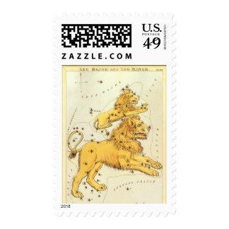Vintage Astrology Leo Lion Constellation Zodiac Postage