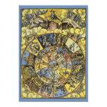 Vintage Astrology, Renaisance Zodiac Wheel, 1555 Card
