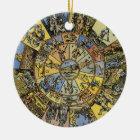 Vintage Astrology, Renaisance Zodiac Wheel, 1555 Ceramic Ornament