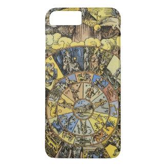 Vintage Astrology, Renaisance Zodiac Wheel, 1555 iPhone 8 Plus/7 Plus Case